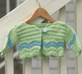 Crocheted Gifts for Baby: Charlie Brown Baby Cardigan