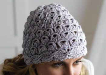 Cable Crochet Hat Pattern: Cables and Lace Broomstick Hat