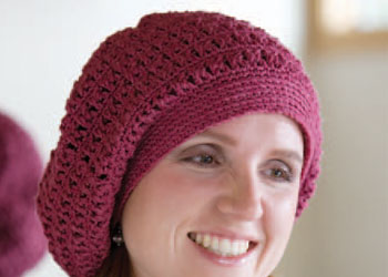 Crochet Beret Pattern: Hot Cross Slouch Beret