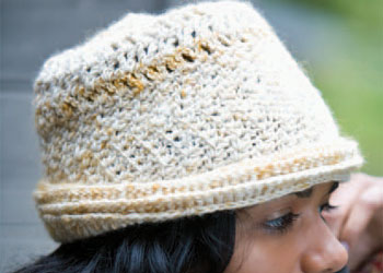 Crochet Hat Pattern: Slanting Stitches Hat