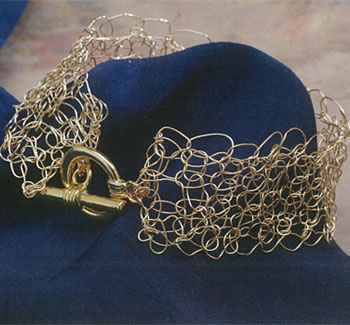 Create crochet wire jewelry including this crochet bracelet.