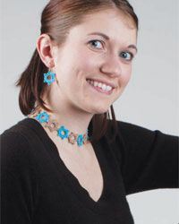 Crochet Necklace, Bracelet, and Crochet Earring Patterns: Freewheeling Jewelry