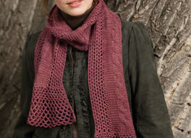 Crochet + Knitting Pattern #1: Lacy Cables Scarf