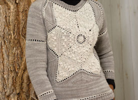 Crochet + Knitting Pattern #3: Snowflake Sweater