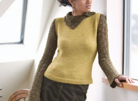 Crochet + Knitting Pattern #4: Melange Turtleneck