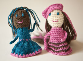 Crochet + Knitting Pattern #5: BFF Finger Puppets