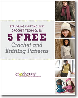 Download your 5 free crochet and knitting patterns eBook!