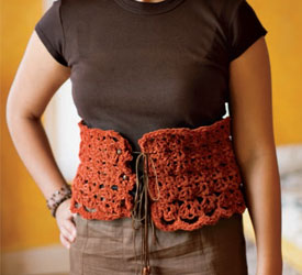 Lace Crochet Belt Pattern - Corset Belt