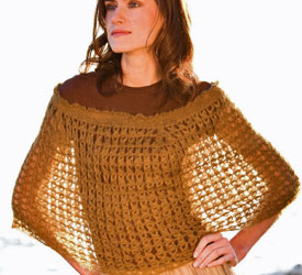 Broomstick Lace Crochet Pattern - Broomstick Lace Capelet