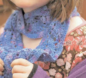 Crochet Lace Scarf Pattern - The Crocus Scarf