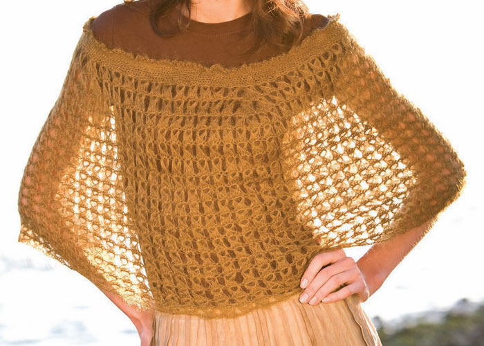 Broomstick Lace Crochet Capelet by Kate Pullen