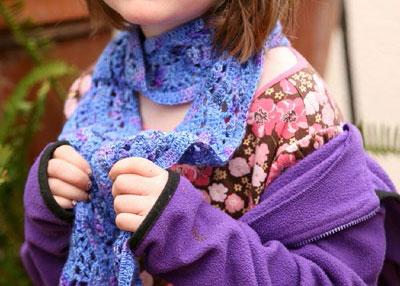 Crochet Lace Scarf: Crocus Scarf by Laura Rintala