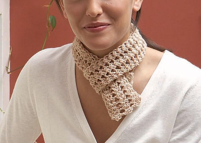 Tunisian Lacy Crochet Scarf: Tunisian Lace Ascot by Ellen K. Gormley