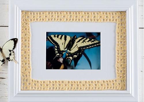 Filet Crochet Frame by Toni Rexroat