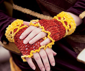 Crochet Fingerless Gloves Pattern: Supremely Lacy Mitts by Natasha Robarge