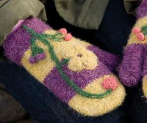 Crochet Mitten Pattern: Spring Fever Mittens by Julia Vaconsin