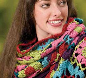 Scarf Featuring Crochet Circles: Carmen's Jazz Scarf