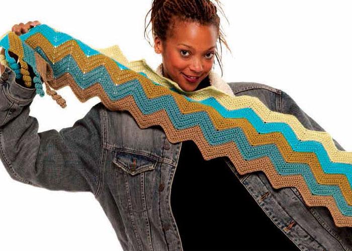 Easy Crochet Scarf: Zig-Zag Scarf by Judith Swartz