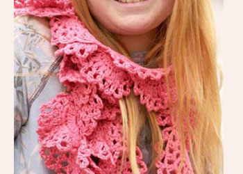 Crocheted Scarves: Mermaid Scarf by Sandi Wiseheart