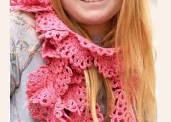 Crocheted Scarves: Mermaid Scarf by Sandi Wiseheart