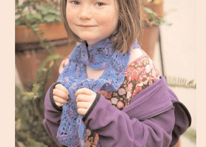 Crochet Scarves with Lace: Crocus Scarf by Laura Rintala