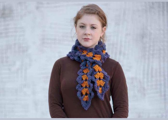 Scarf Crochet Patterns: Conch Scarf by Jody Witt