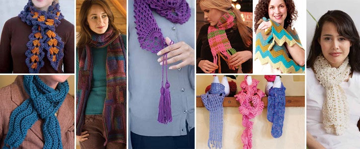 From basic to lace, beginner and beyond, you'll get 10 free crochet patterns for scarves.
