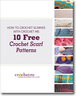 Download 10 free crochet scarf patterns and learn to crochet a scarf with this eBook!