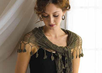 Free Crochet Shawl Pattern: Sprout Chains Shawlette