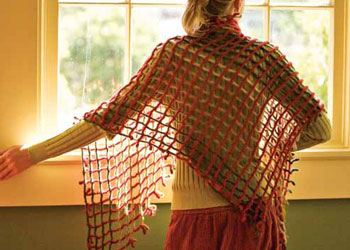 Easy Crochet Shawl Pattern: Waffle Lattice Shawl