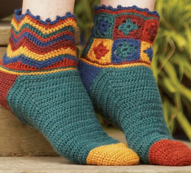 Sock Crochet Pattern: Beaux Jestes Socks