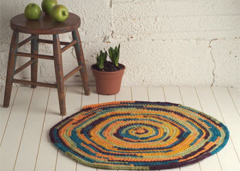 Easy Crochet Pattern: Country Rug by Susan Huxley