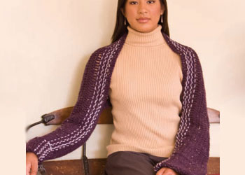 Simple Crochet Patterns: Hook and Weave Shrug by Jennifer Orr