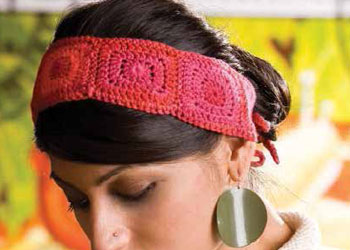 Crocheting Granny Squares: Four Corners Headband by MK Carroll