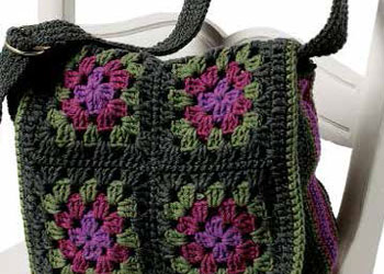 Granny Square Bag: Messenger Bag by Judith L. Swartz