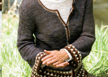 Granny Square Sweater: Caramel Cardigan by Annette Petavy
