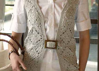 Granny Square Vest: Gladiolus Vest by Robyn Chachula