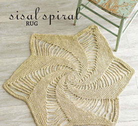 Use Magic Circle Crochet, Pattern #2: Spiral Rug by Julie Armstrong Holetz