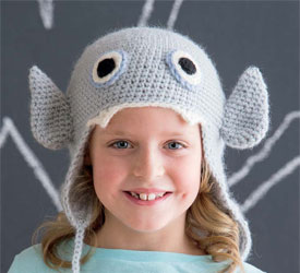 Use the Magic Crochet Ring, Pattern #3: Lil Vampire Hat by Brenda K. B. Anderson