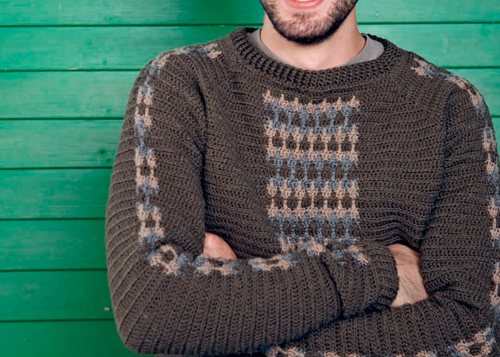 Crochet Patterns For Men s Sweaters : Free Crochet Patterns for Men: Hat, Beanie, Scarf, and ...