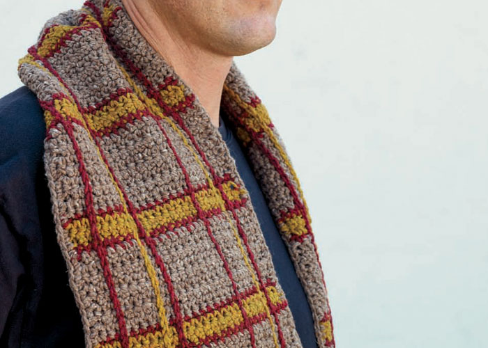 Crochet Scarf Pattern Male : Free Crochet Patterns for Men: Hat, Beanie, Scarf, and ...