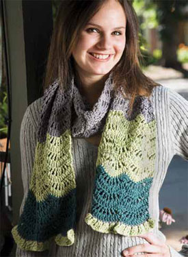 Once you get down the basics you'll be ready to tackle on of these crochet stitch patterns, including this scarf.