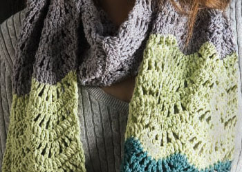 Crochet Stitch Patterns: Wool Bam Boo Scarf