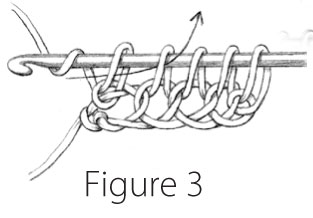 Tunisian Simple Stitch: Figure 3