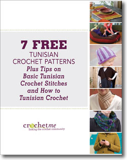 Download your 4 free Tunisian crochet patterns eBook!