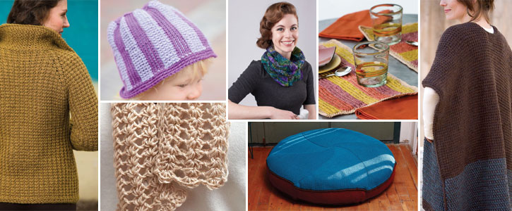 Helpful Tunisian crochet instructions are included with each pattern.
