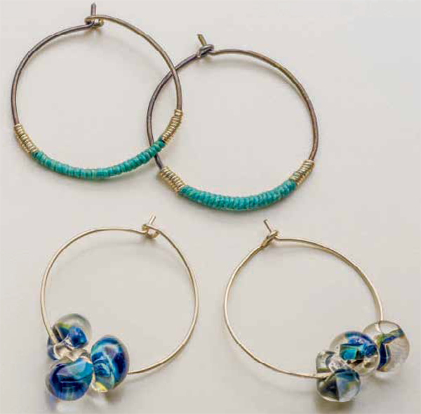 DIY hoop earrings tutorial free to download!