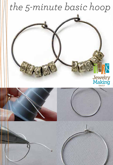 Learn how to make hoop earrings the easy way in this free guide on jewelry making for beginners exclusively from Jewelry Making Daily.
