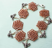 Create a beautiful chainmaille bracelet