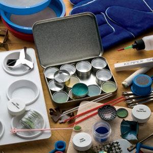 Learn how to enamel on metal in jewelry making in this free enameling guide from Jewelry Making Daily.